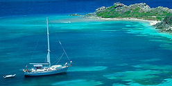 熱帯におけるセイルボート