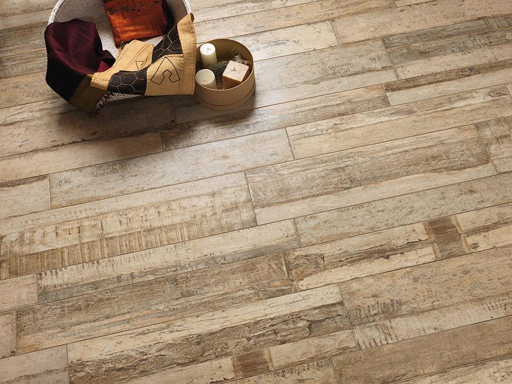 Seawood Sand - Porcelain wood-plank tile