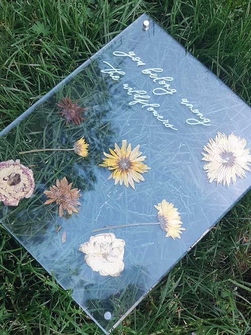 Pressed Floral & Hand Lettering Acrylic Workshop
