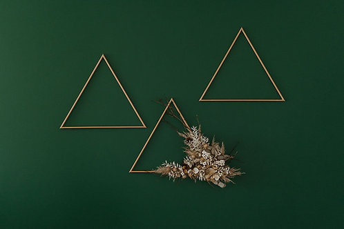 Dried Flower Triangle