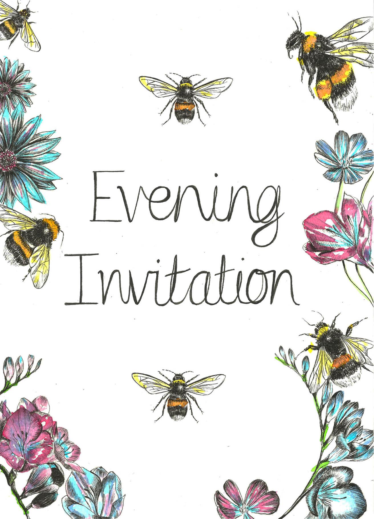 evening invite front