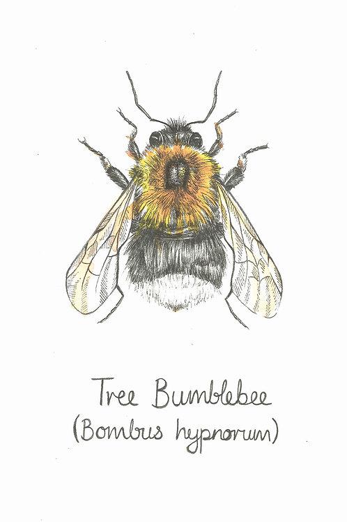 Tree Bumblebee Original Art