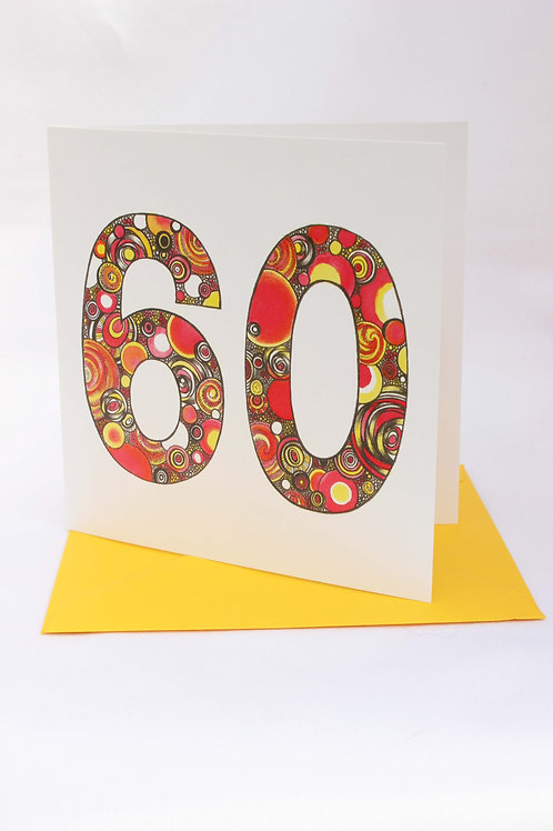 A60 60th Birthday Card