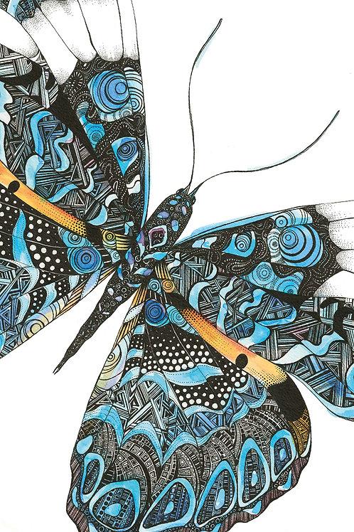 Geometric Butterfly Card