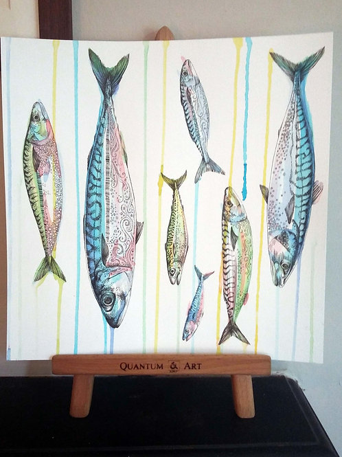 Raining Mackerel Original Art