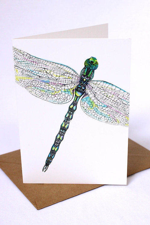 Close Up Dragonfly Card