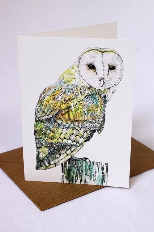 002 Barn Owl Card