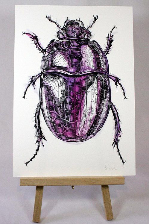 PRPSYC/A4/A3 Psychedelic Beetle Fine Art Print