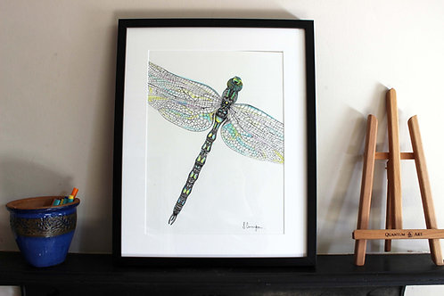 Close Up Dragonfly Original Art