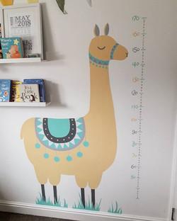 Nursery height chart finally finished!!
