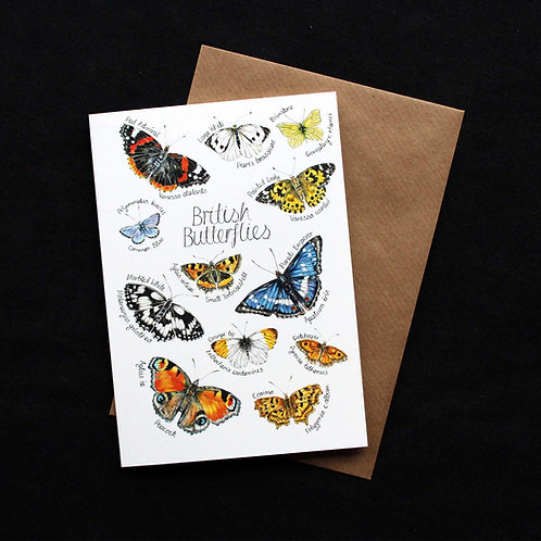 British Butterflies Cards