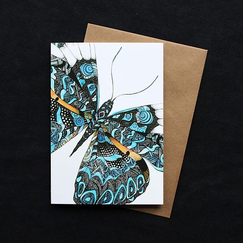 028 Geometric Butterfly Card
