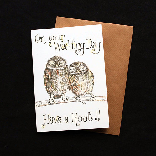 Have a Hoot Wedding Card