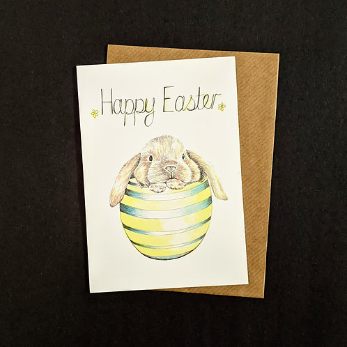 E01 'Happy Easter' Bunny Card
