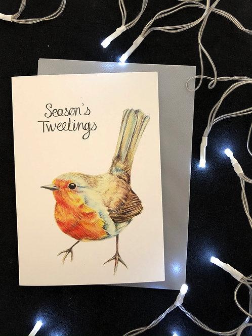 Season's Tweetings Robin Card