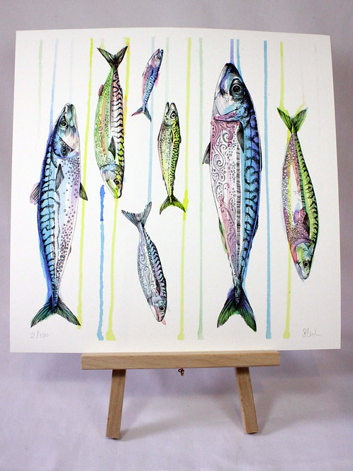 PRRAIN Raining Mackerel Fine Art Print