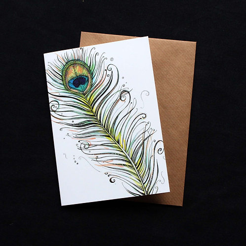 011 Peacock Feather Card