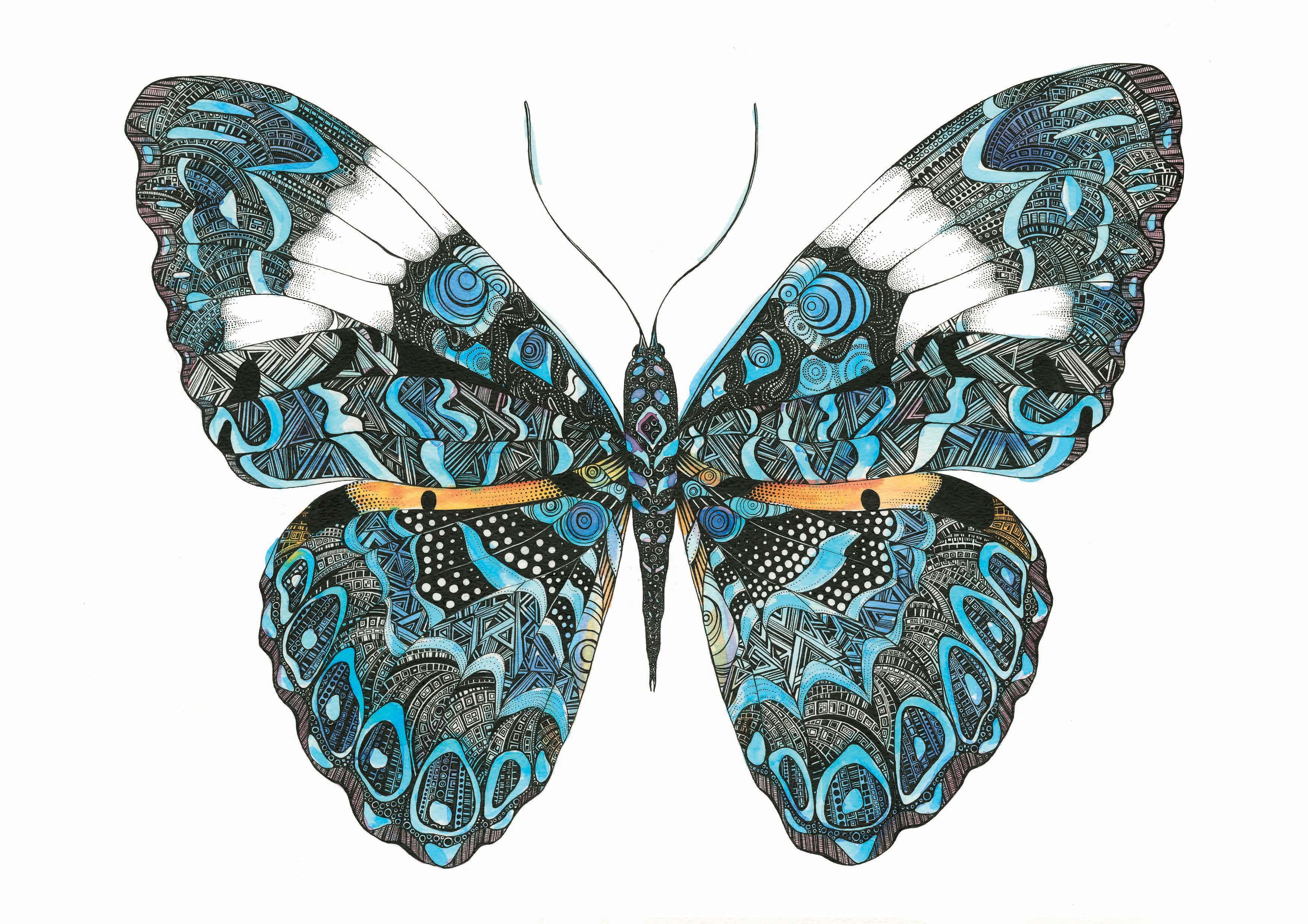 geometric butterfly a4