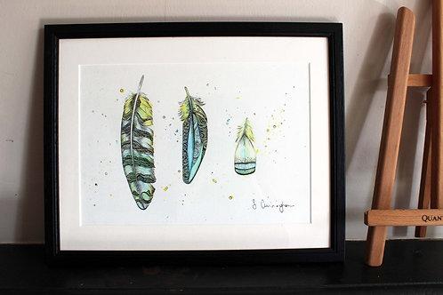 Feather Trio Original Art