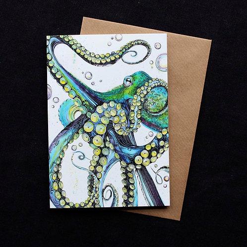 025 Blue Octopus Card