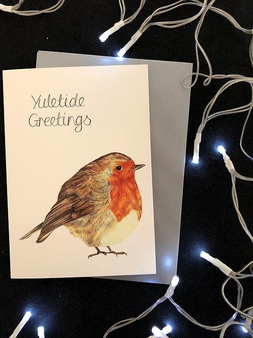 Yuletide Robin Cards