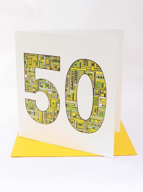 A50 50th Birthday Card