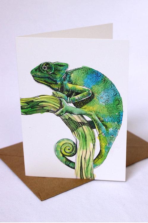 004 Chameleon Card