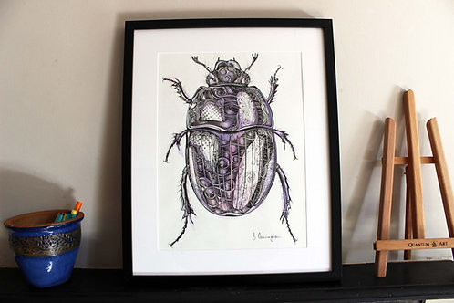 Psychedelic Beetle Original Art