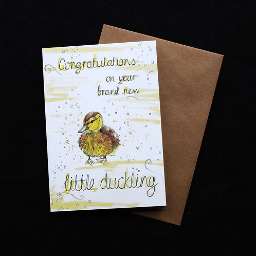 016 'Brand New Little Duckling' New Baby Card