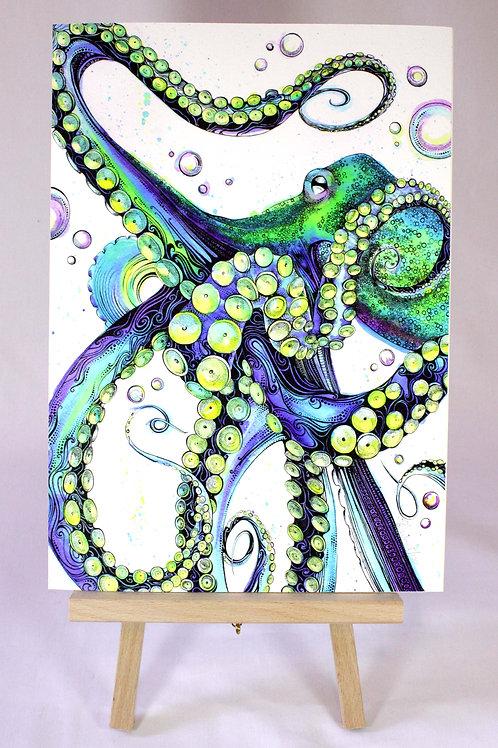 Blue Octopus Limited Edition Fine Art Print