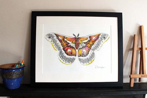 Jazz Moth Original Art