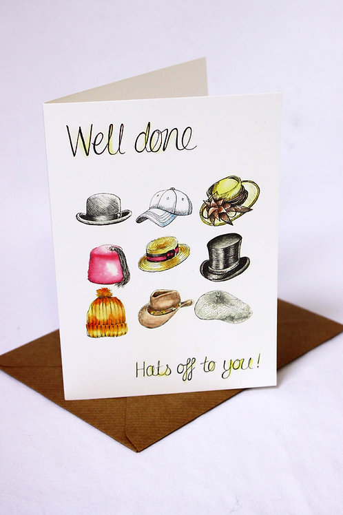 022 'Hats Off To You' Well Done Card
