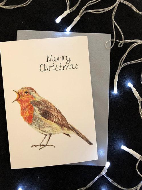 Merry Christmas Robin Card