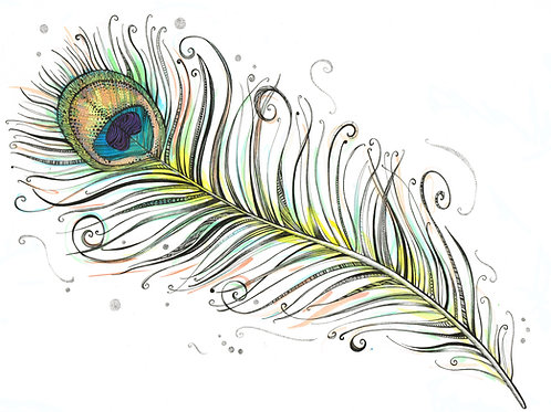 Peacock Feather Original Art