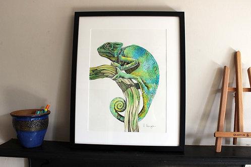 Chameleon Original Art