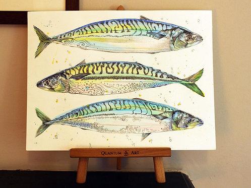 Triple FishOriginal Art