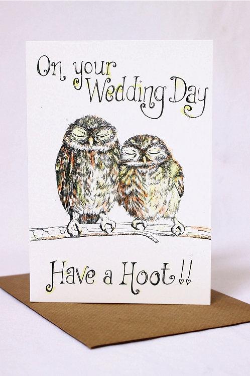 Have a Hoot Wedding Card