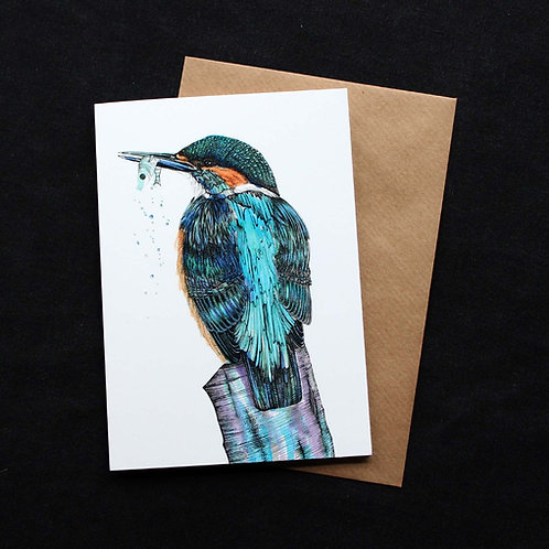 008 Kingfisher Card