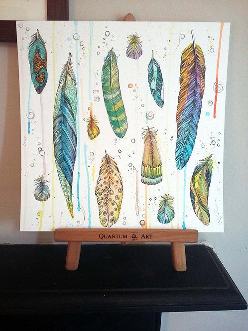 Drippy Feathers Original Art
