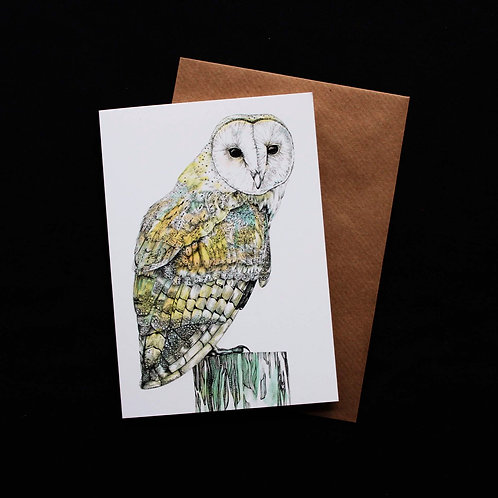 002 Barn Owl Card