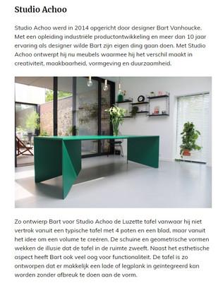 Roomed - belgische meubelstudio's