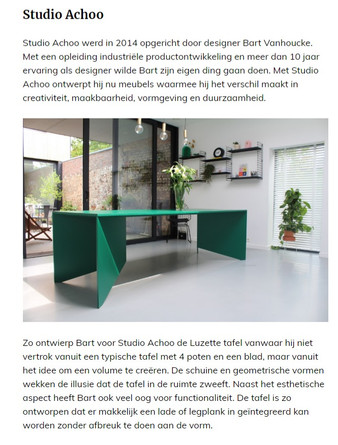 Roomed - belgian furniture studios