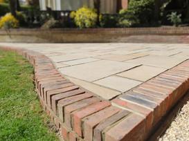 brick edge patio