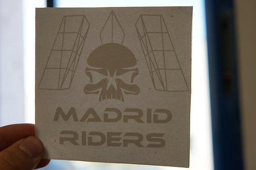 Pegatina Logo Madrid Riders