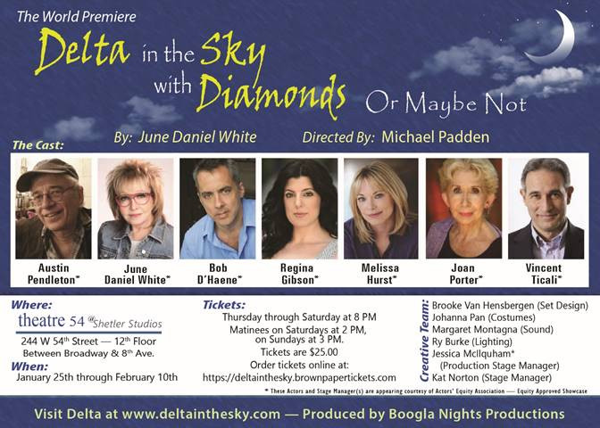 Austin Pendleton in DELTA IN THE SKY WITH DIAMONDS (OR MAYBE NOT) January 25 - February 10, 2018