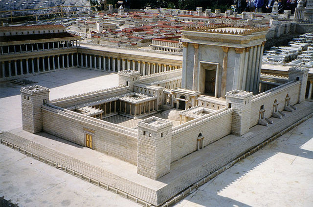 Solomon's Temple Model, Jeruslem, by Juan R. Cuadra - Own work, Public Domain, https://commons.wikimedia.org/w/index.php?curid=2591412