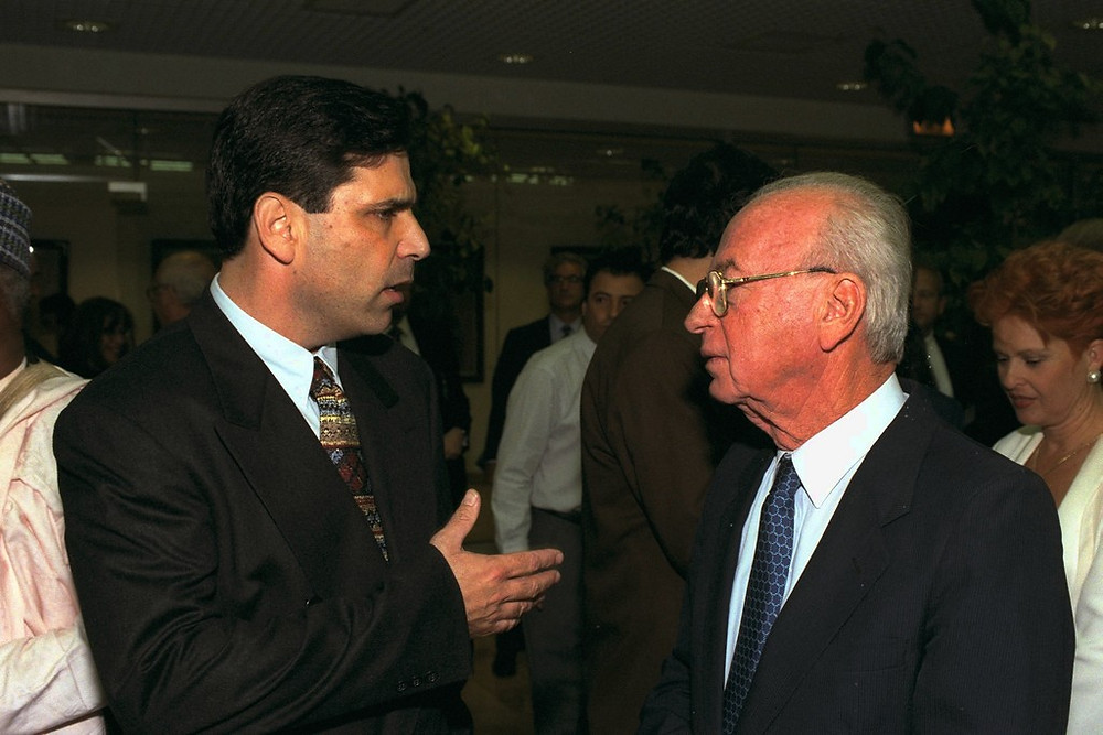 Gonen Segev With Prime Minister Yitzhak Rabin (Image credit: Yaacov Saar/Government Press Office of Israel)