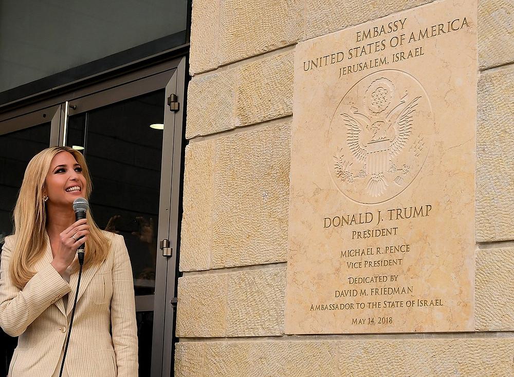Ivanka Trump at the U.S. Embassy Dedication Ceremony by U.S. Embassy Jerusalem [CC BY 2.0] via Flickr