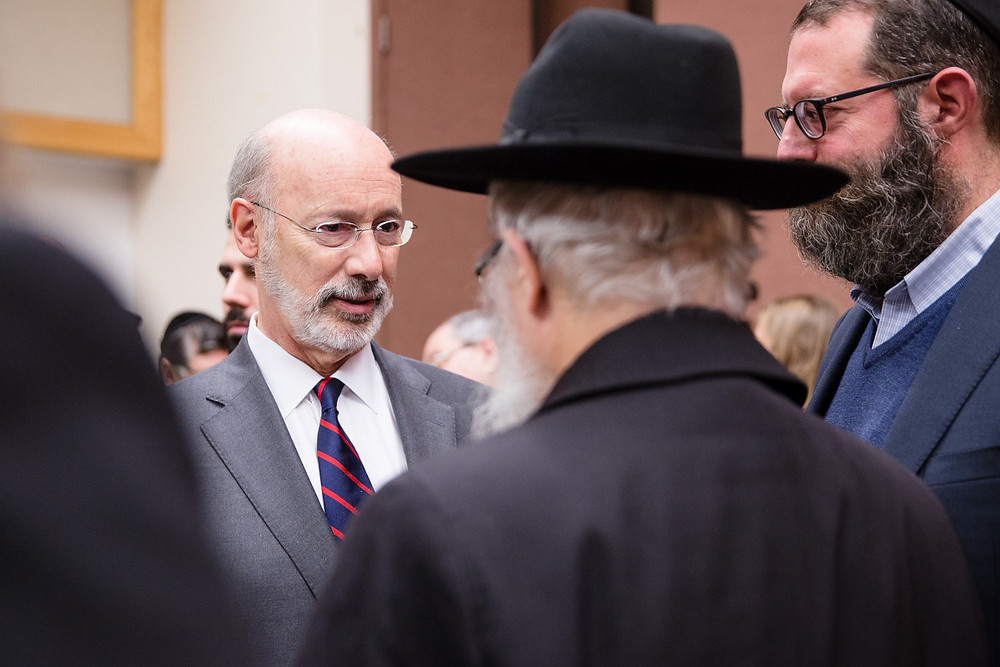 Pennsylvania Governor Wolf At Mourning After Shooting in Tree of Life Synagogue by The Office of Governor Tom Wolf [CC BY 2.0] via Flickr