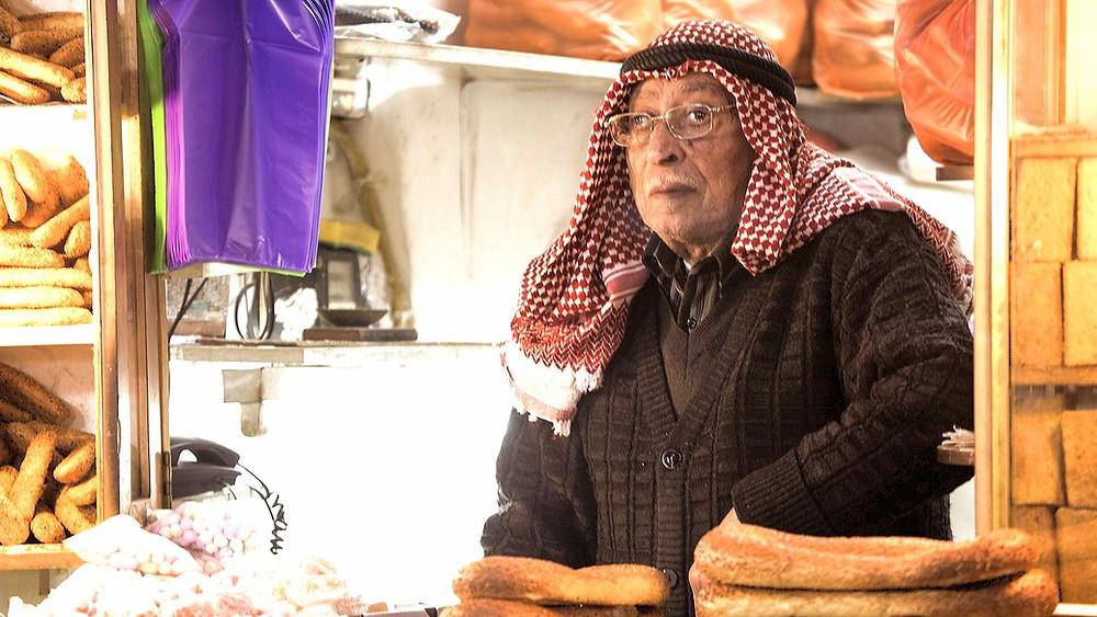 Illustration: Bread Seller in Jerusalem by Steve Evans [CC BY-NC 2.0] via Flickr